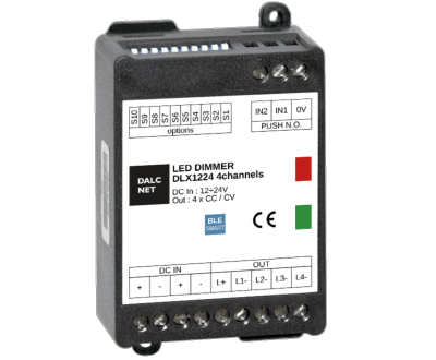 DALCNET DLX1224-4CC-350-BLE DIMMER SERIE BLUETOOTH 4 CANALI
