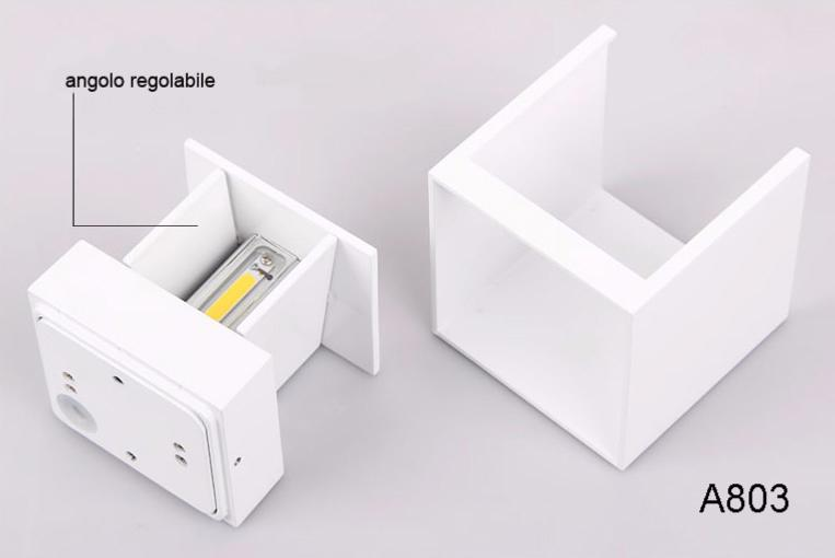 Applique bianco trasparente rigato beetle cube studio italia design
