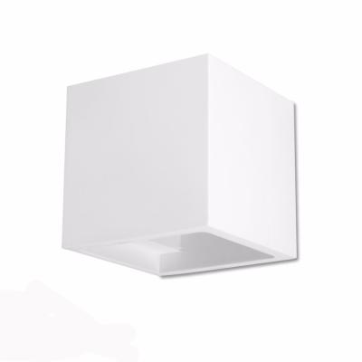 APPLIQUE IN CEMENTO 8127N CUBO UP&DOWN BIANCO ATTACCO G9