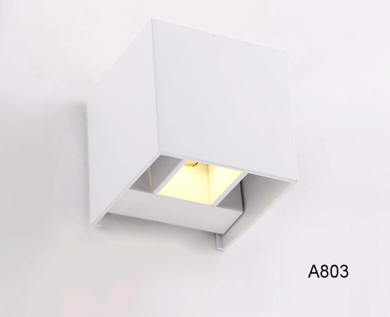 Lampada da parete a led w cubo up e down applique orientabile