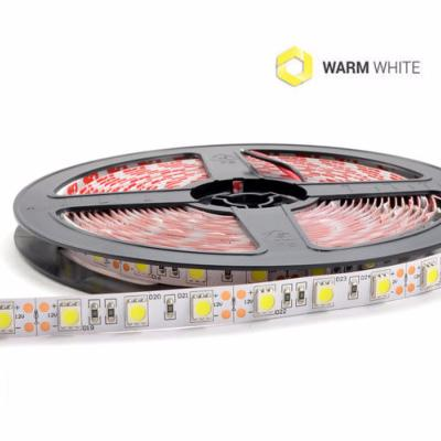 STRIP LED 300SMD5050 BIANCO CALDO IP20 12V