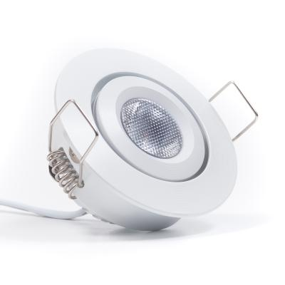 SPOT ORIENTABILE WHITE 3W CREE 240LM 30D 12V IP52 3000K MINI PLUG