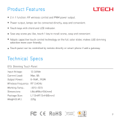 DIMMER PARETE TOUCH LTECH E1S DIMMER 2IN1 RF/PWM