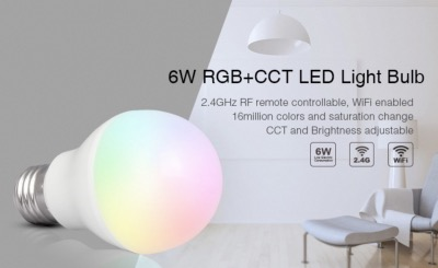 BULBO E27 RGB+CCT 6W 2.4G MI LIGHT  FUT014